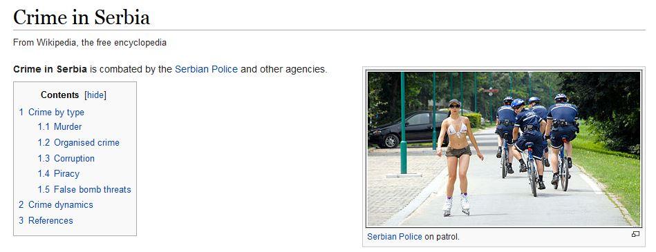 Crimes en Serbie