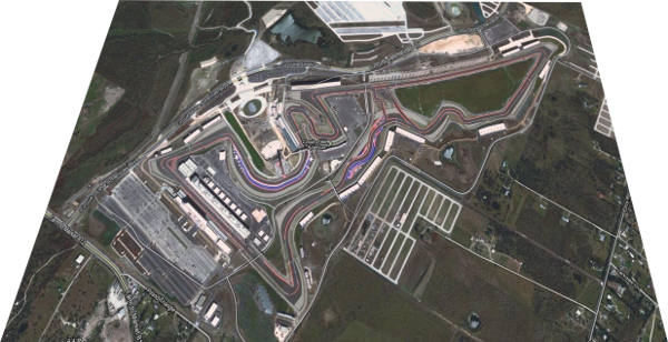 Circuit of the america, vue 3D