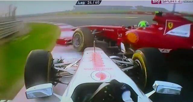 Inde, accident entre Hamilton et Massa