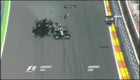 Accident de Mark Webber au Grand Prix de F1 de Valence