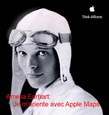 Amelia Earhart et Apple Maps