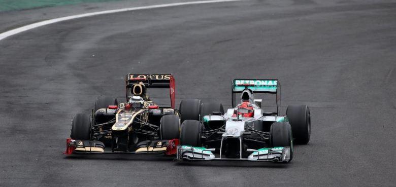 F1 Brésil, Raïkkönen et Schumacher