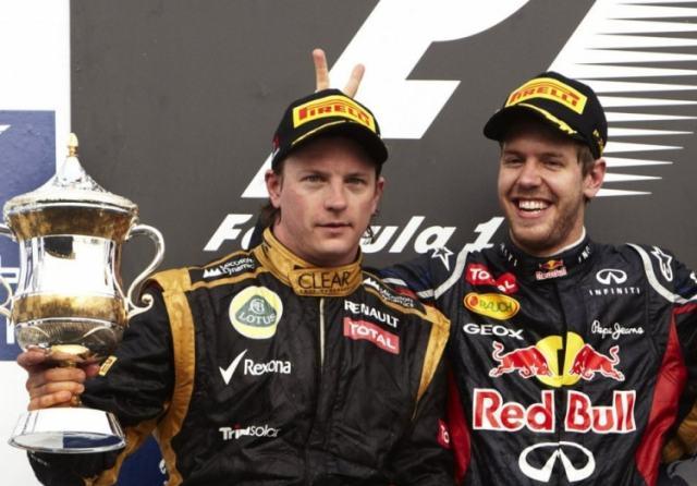 Vettel et Räokkönen à Bahrein en 2012