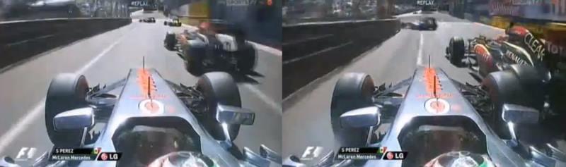 Sergio Perez vs Kimi Raïkkönnen, Monaco 2013