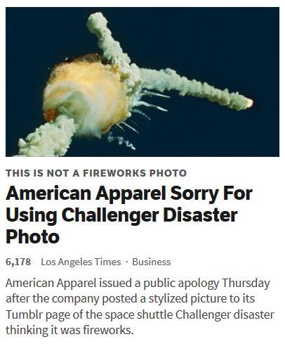 Challenger, beau feu d'artifice