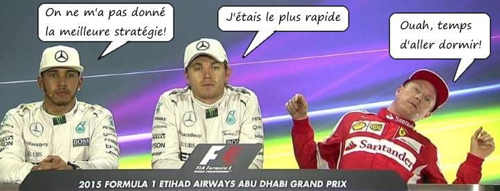Conférence de presse F1 Abu Dhabi