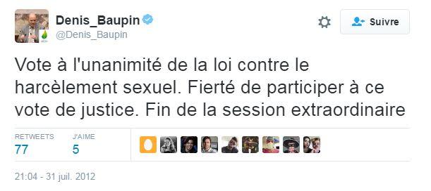 Denis Baupin et le harcèlement