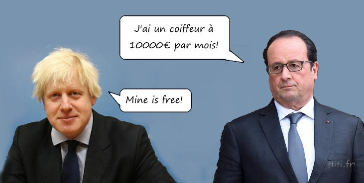 Boris Johnson rencontre François Hollande