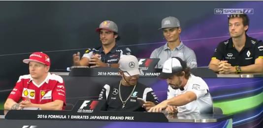 Japon conférence presse f1 2016