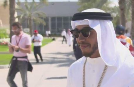 Lewis Hamilton voilé