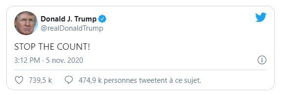 Donald Trump: stoppez le décompte!