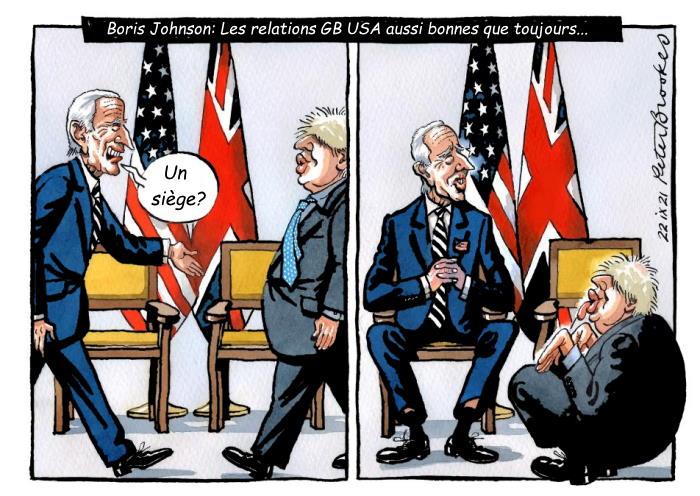 Biden Johnson leurs bonnes relations