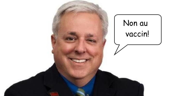 Mister anti-vax Marc Bernier